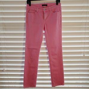 White house black market WHBM pink ankle jeans 0